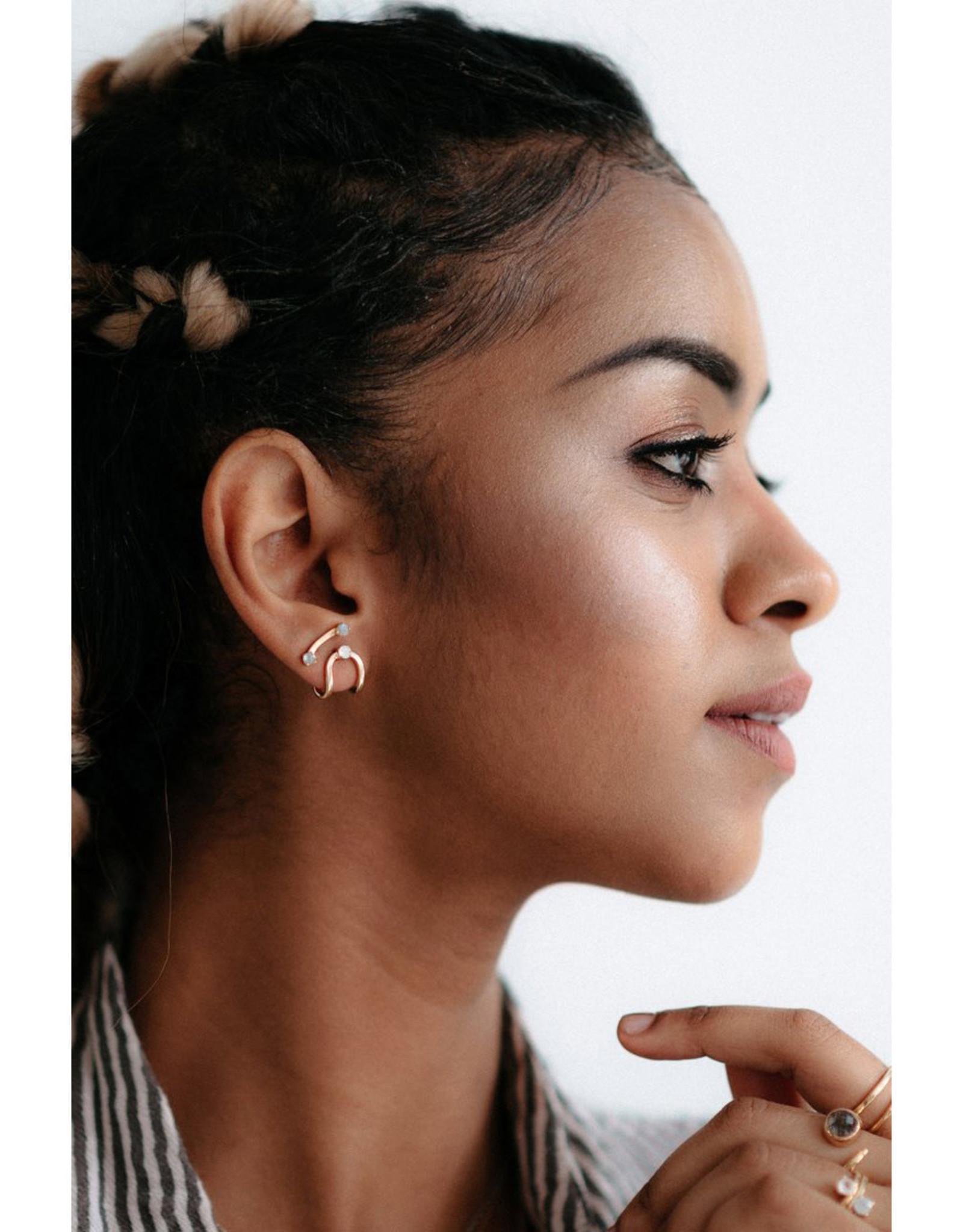 Sarah Mulder Jewelry Gold Nita Earcuffs - Onyx