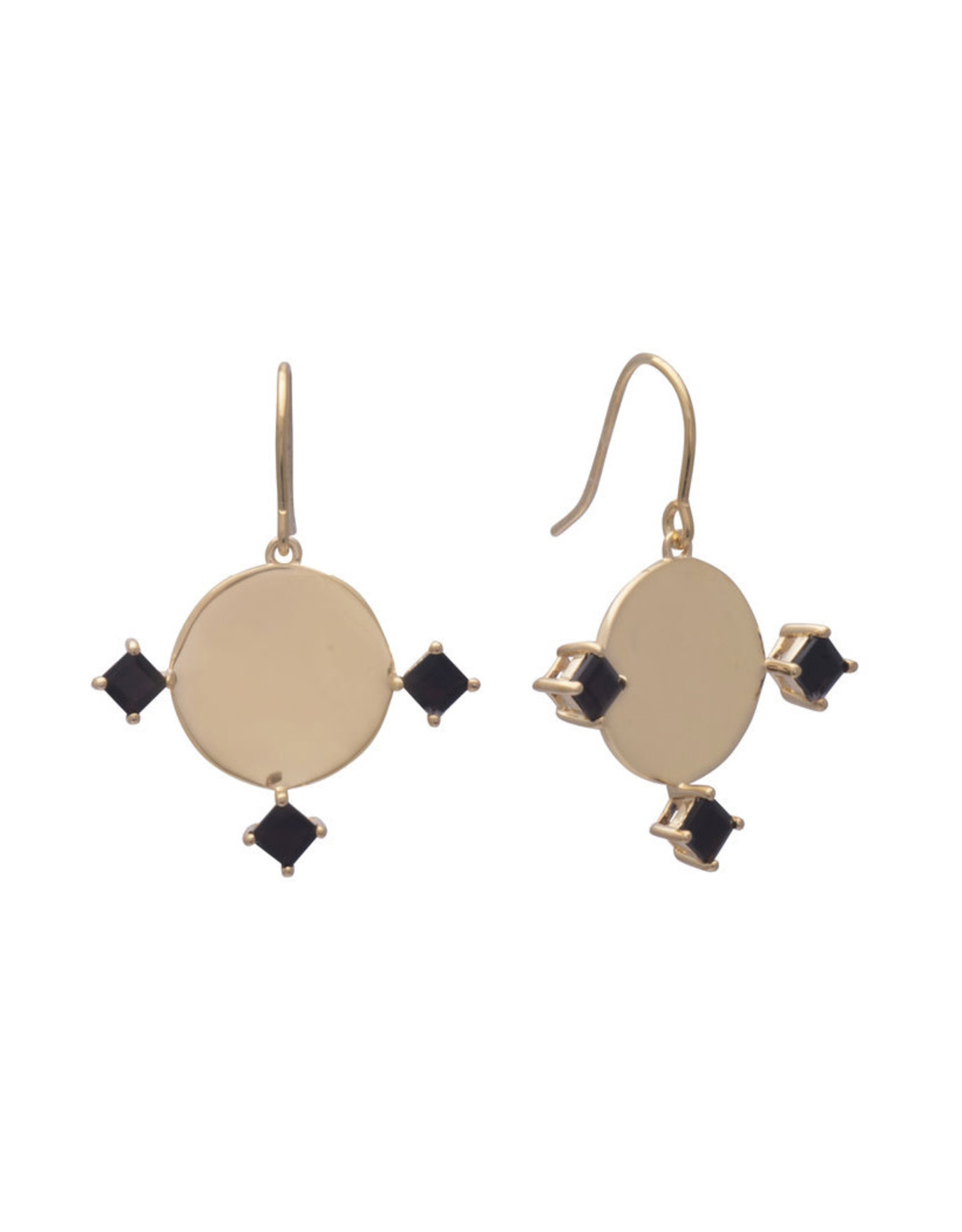 Sarah Mulder Jewelry Gold Imperial Earrings - Onyx