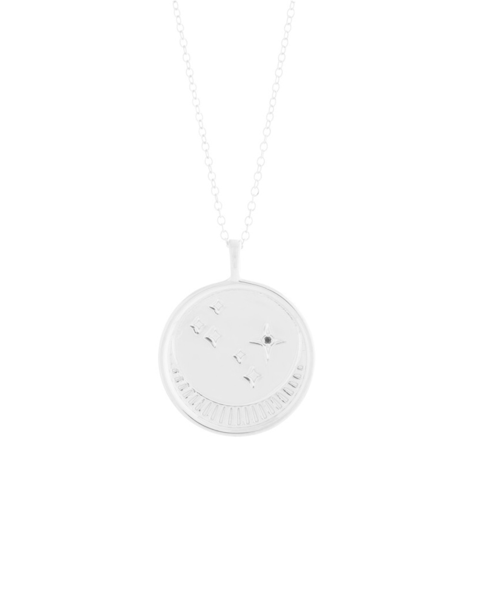 Sarah Mulder Jewelry Silver Franz Necklace - Onyx