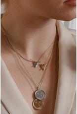 Sarah Mulder Jewelry Silver Franz Necklace - Rose Quartz