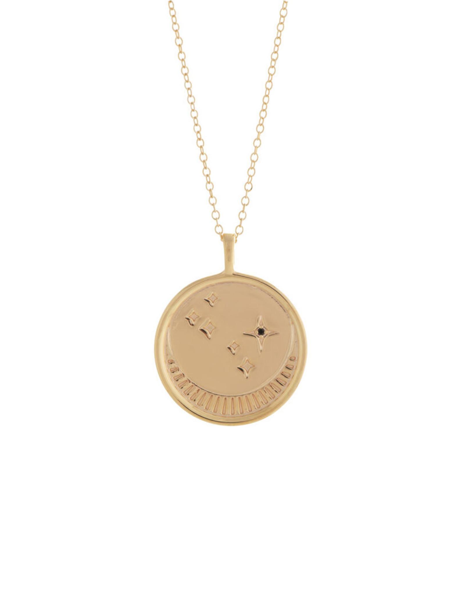 Sarah Mulder Jewelry Gold Franz Necklace - Onyx