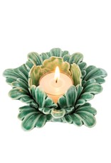 Indaba Pretty Petals Tealight - Green