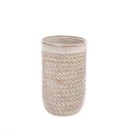 Indaba Cream Sombrio Vase - Medium