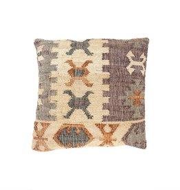 Indaba Kilim Weave Pillow - Dark