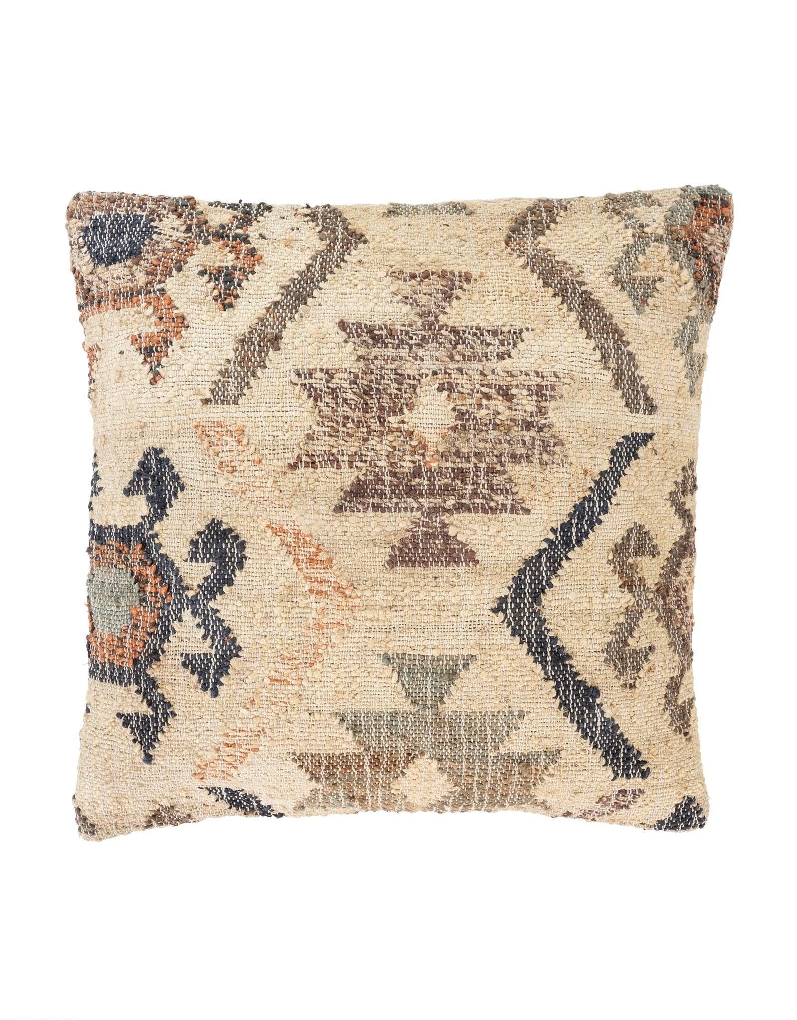 Indaba Kilim Weave Pillow - Light