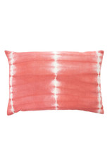 Indaba Shibori Pillow - Coral