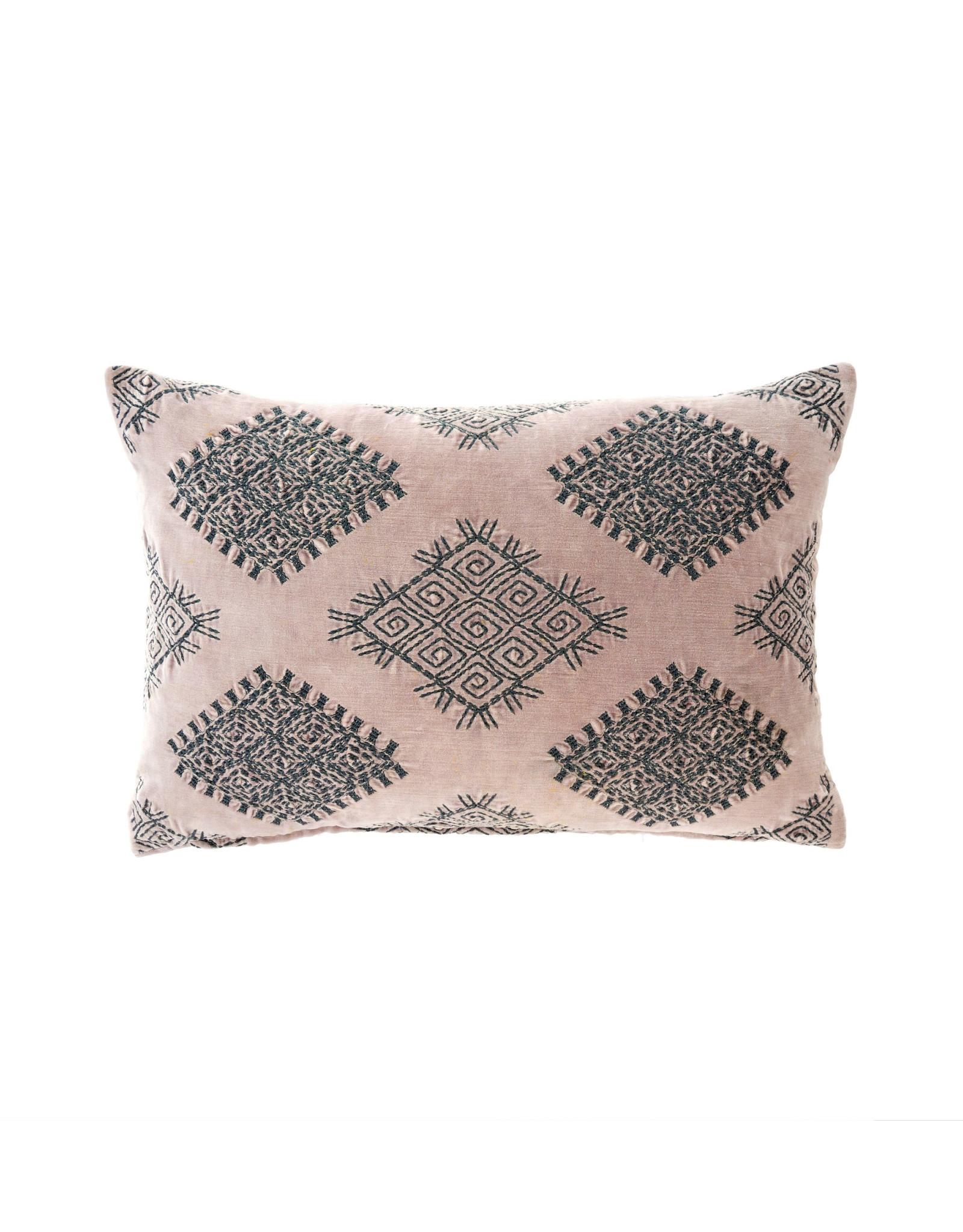 Indaba Vivi Velvet Pillow - Blush
