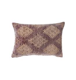 Indaba Vivi Velvet Pillow - Purple