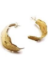 Satomi Studio Mudstone Hoop Post Earring