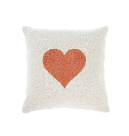Indaba Beaded Heart Pillow