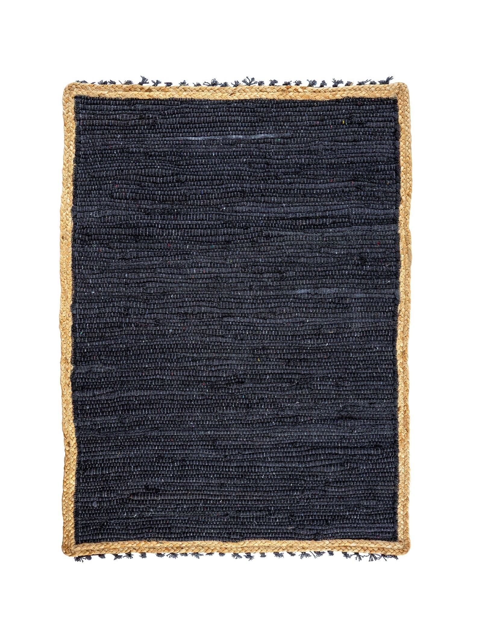 Indaba Atlas Braided Rug Small - Charcoal