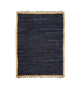 Indaba Atlas Braided Rug Small - Charcoal