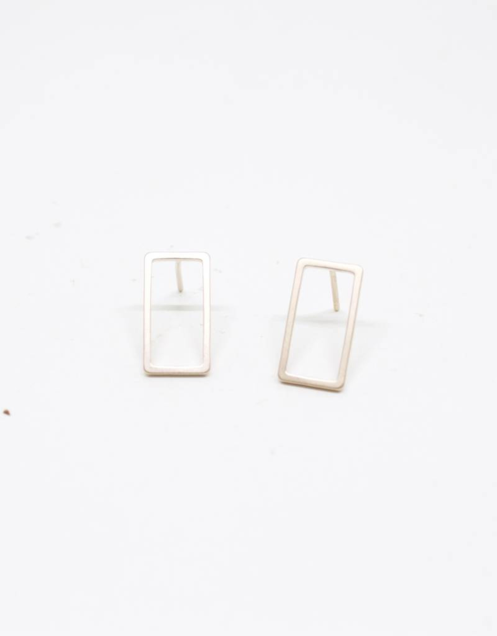 Standout Boutique Outline Stud Earrings - Rectangle