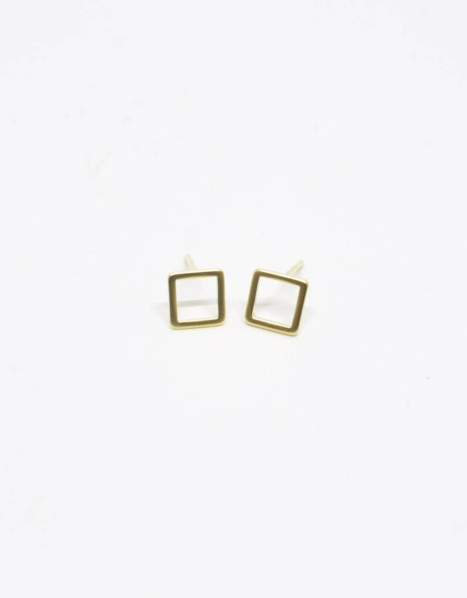 Standout Boutique Outline Stud Earrings - Square