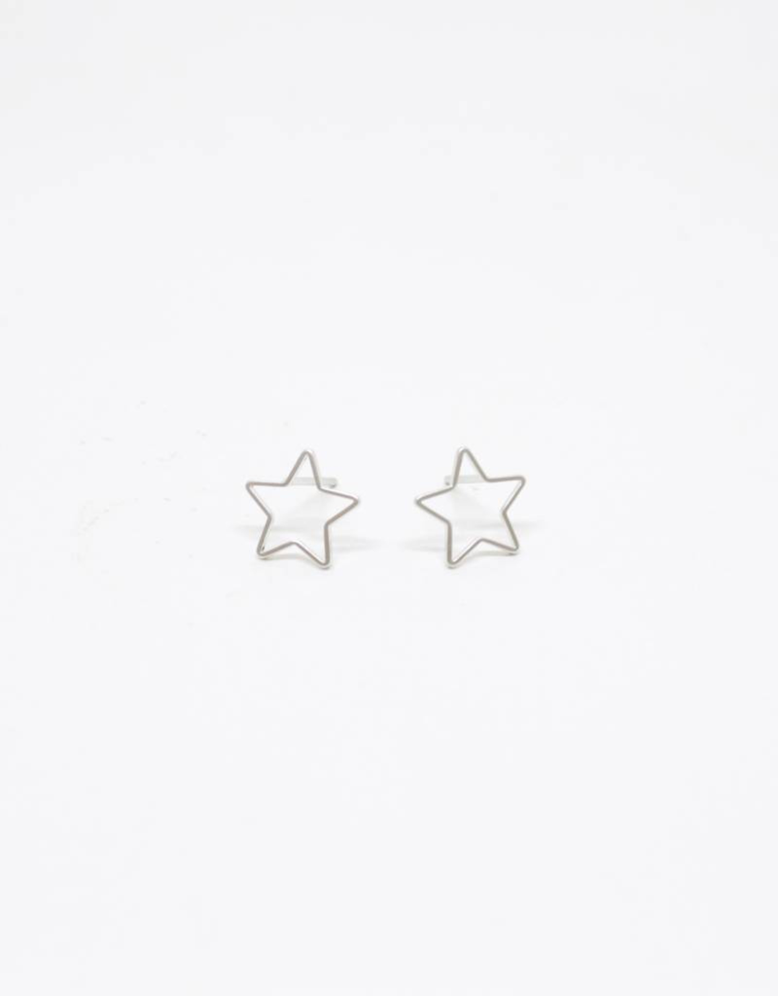 Standout Boutique Outline Stud Earrings - Star