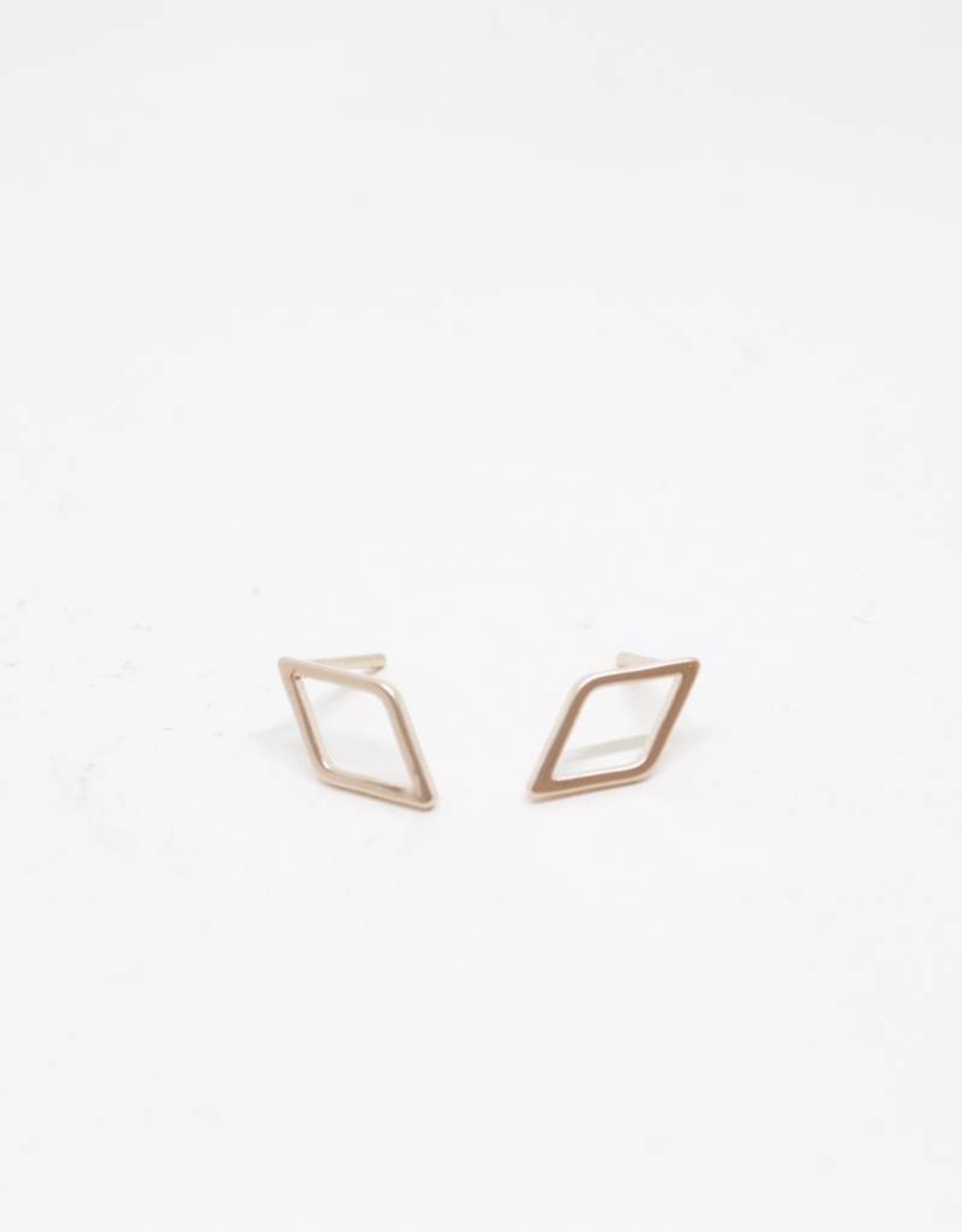 Standout Boutique Outline Stud Earrings - Diamond