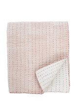 Indaba Cecily Quilted Throw - Rose