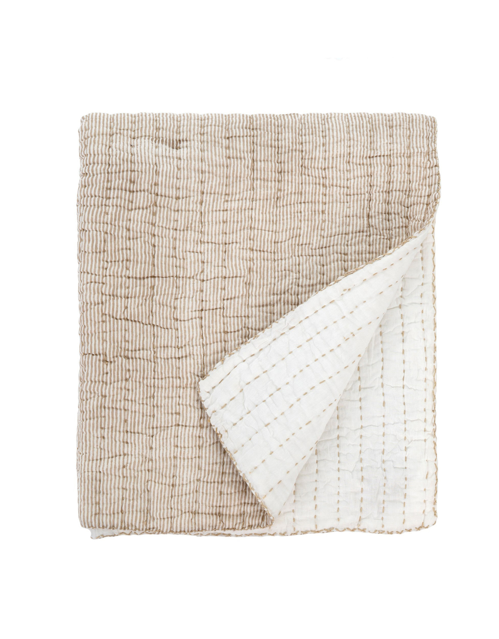 Indaba Cecily Quilted Throw - Mocha