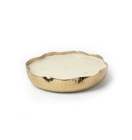 BIDK Home Hammered Tray Candle - Gold - Extra Small