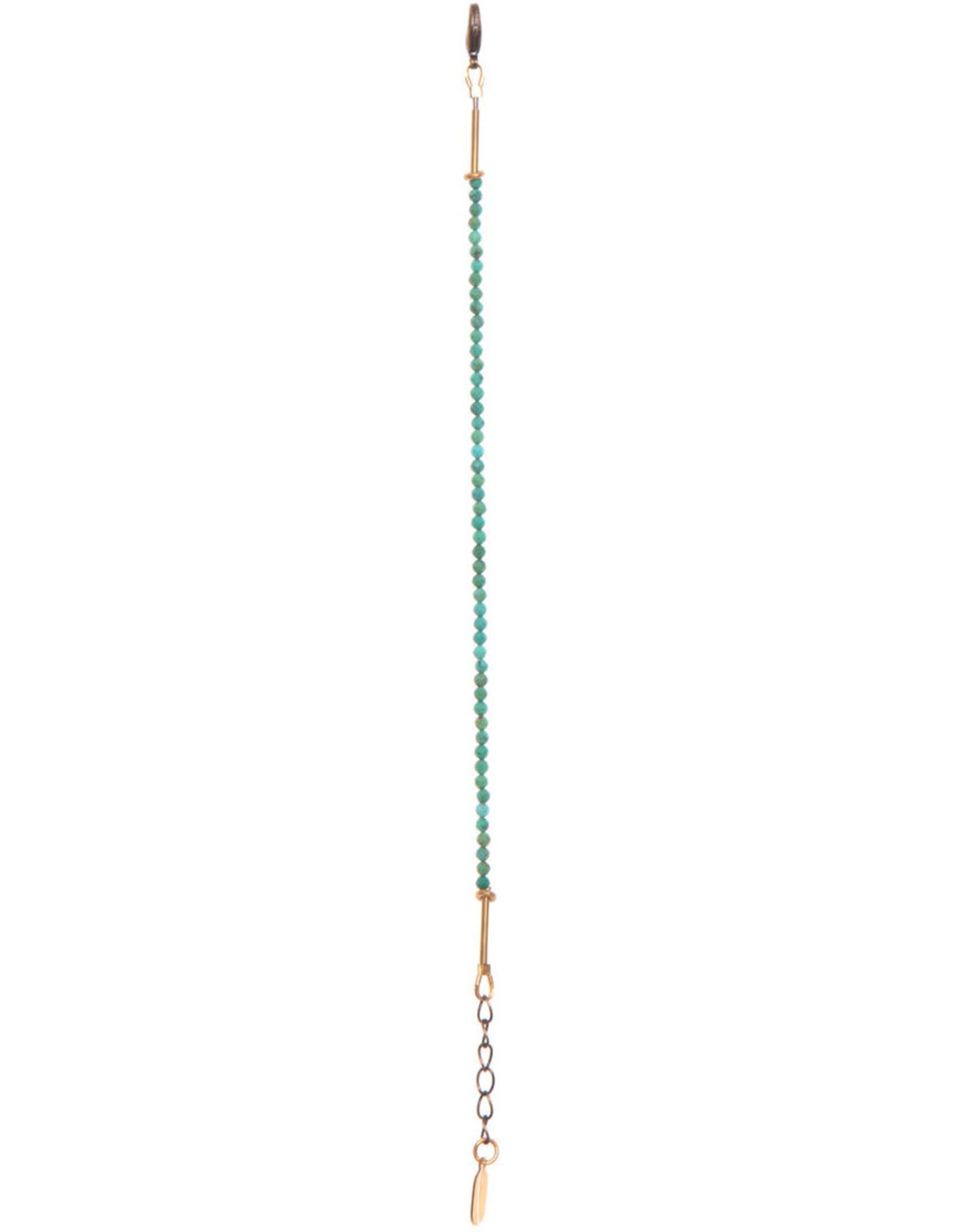 Hailey Gerrits Designs Stone Bracelet - Green Turquoise