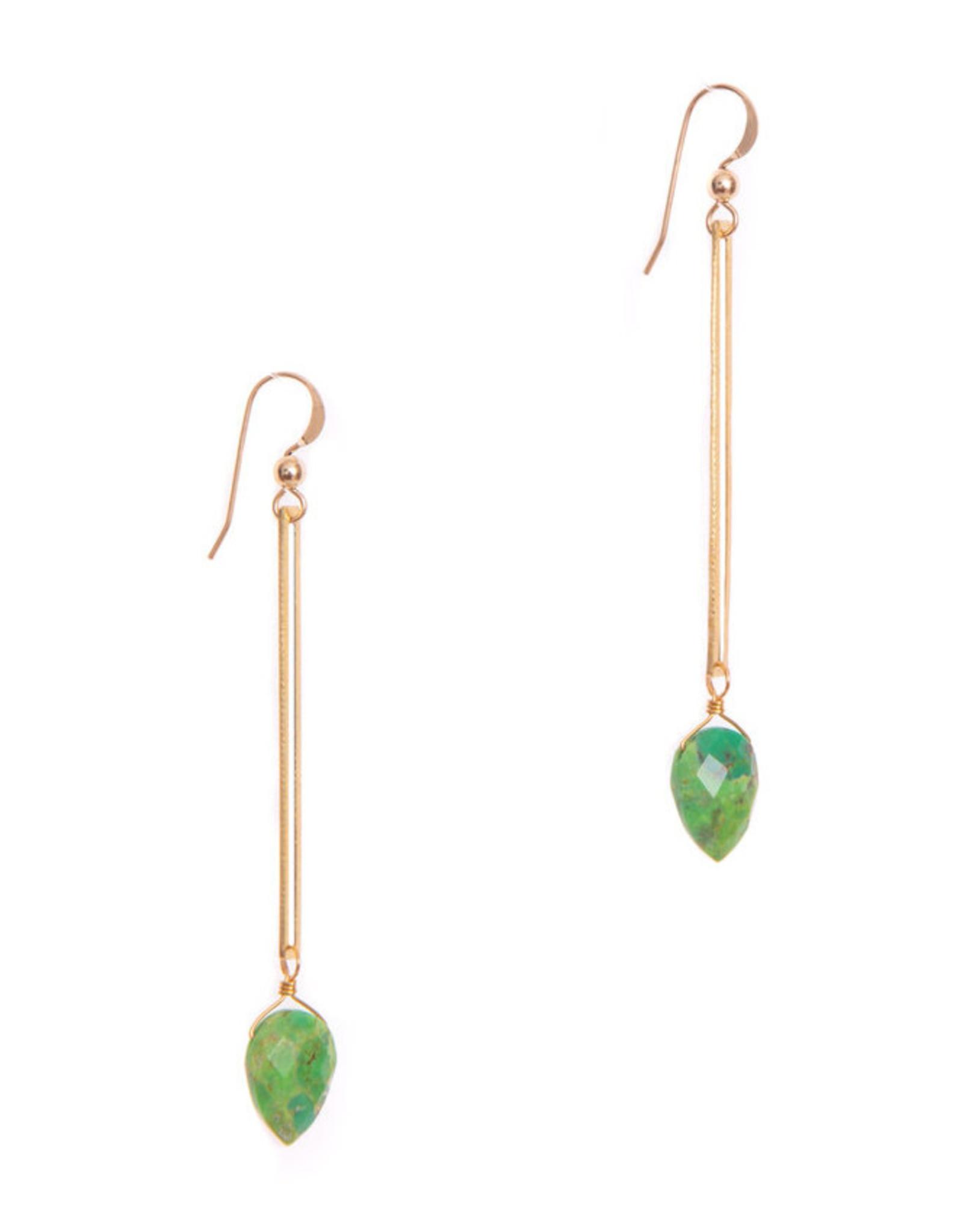 Hailey Gerrits Designs Isla Earrings - Green Turquoise