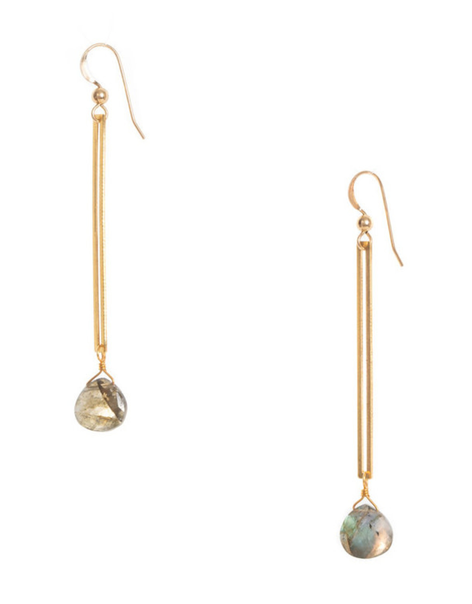 Hailey Gerrits Designs Isla Earrings - Labradorite