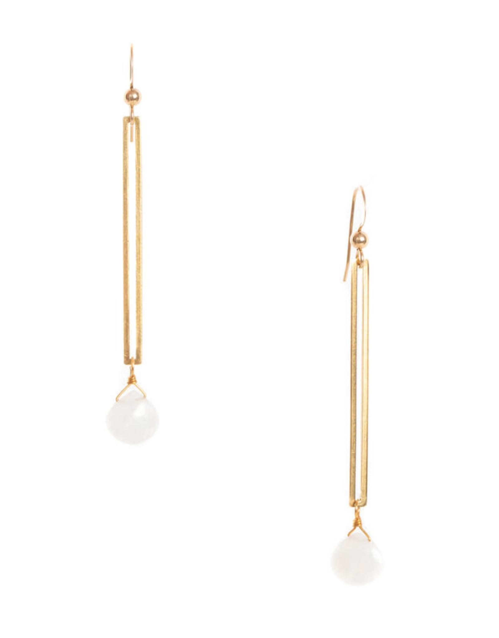 Hailey Gerrits Designs Isla Earrings - Moonstone