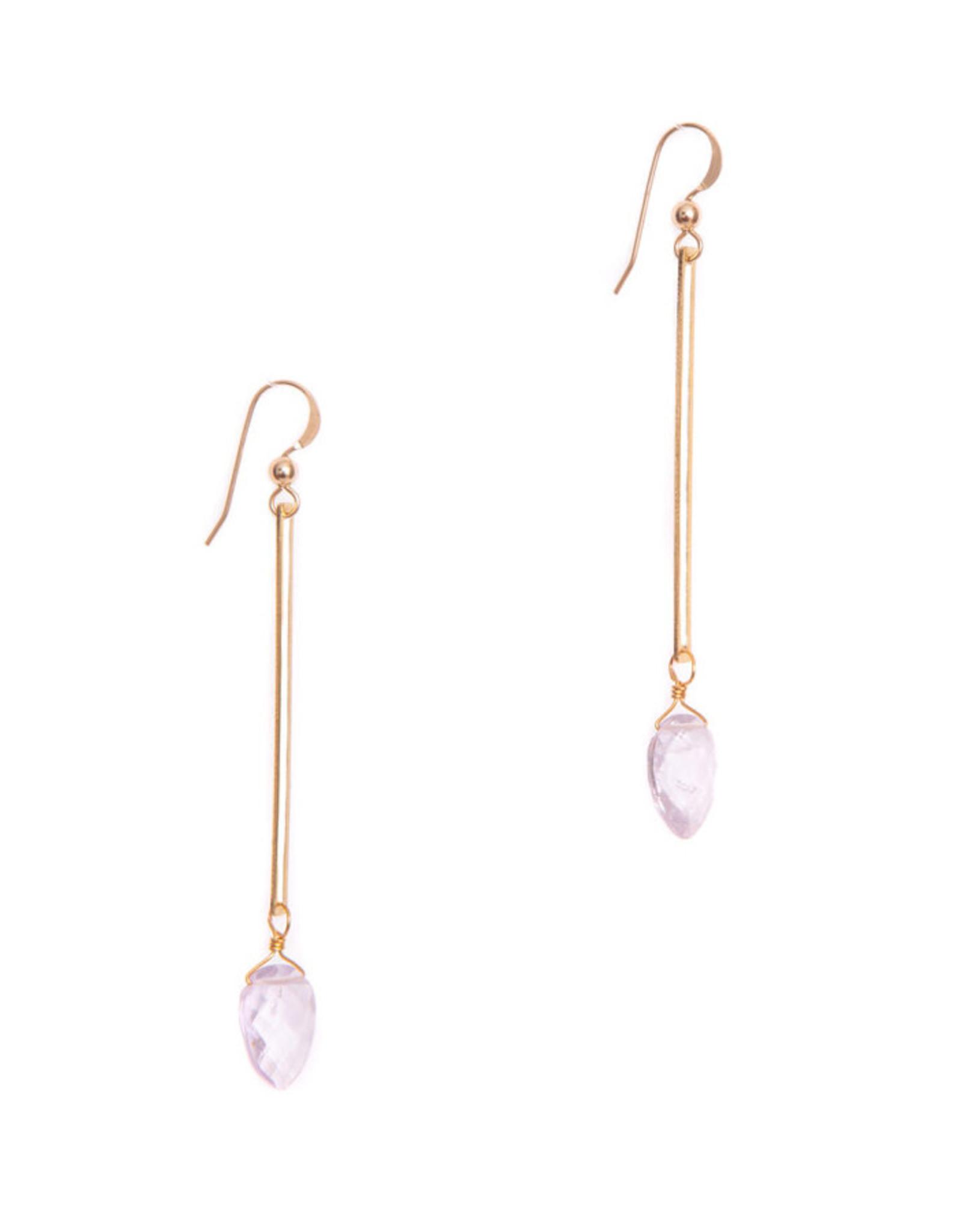 Hailey Gerrits Designs Isla Earrings - Pink Amethyst