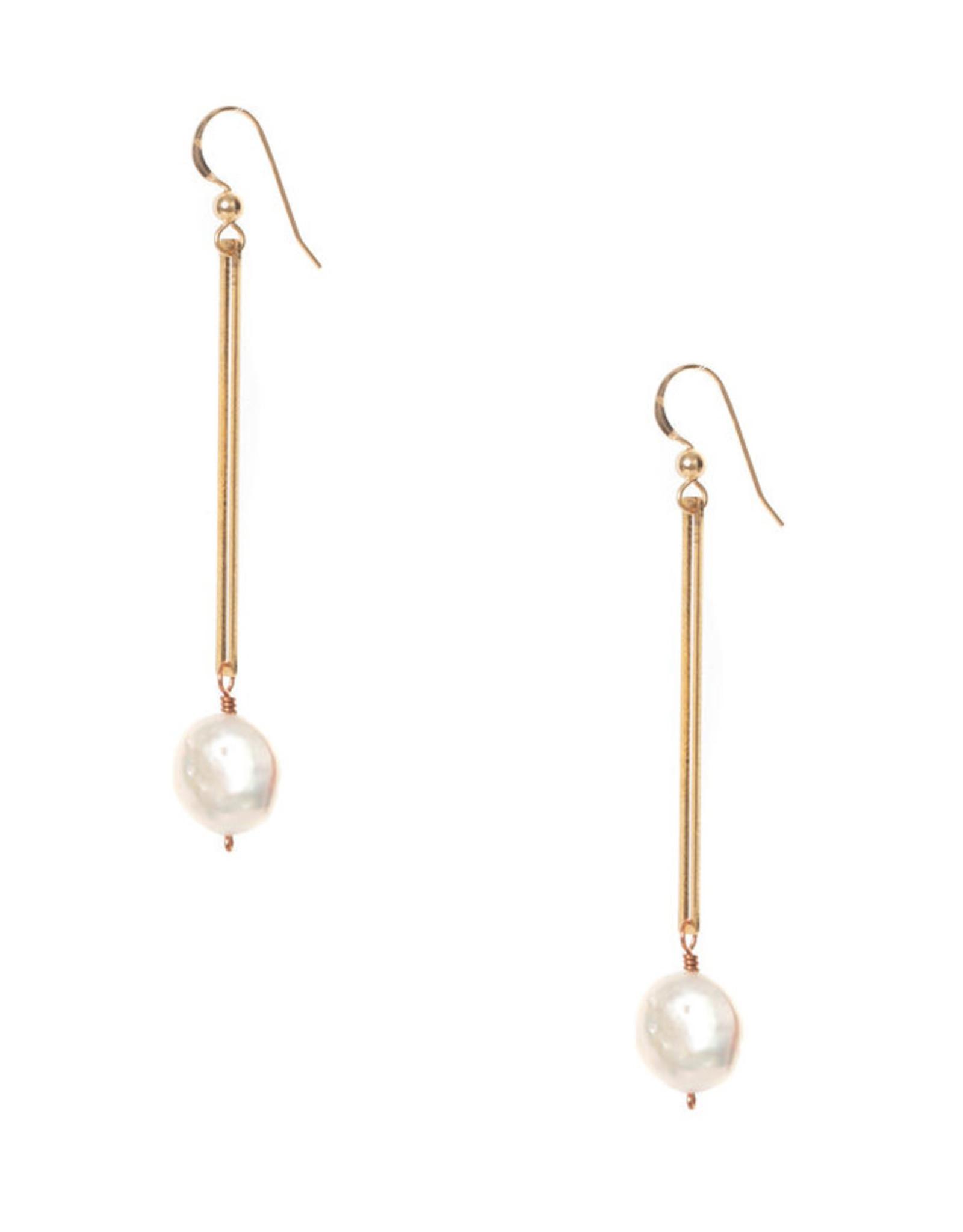 Hailey Gerrits Designs Isla Earrings - Pearl
