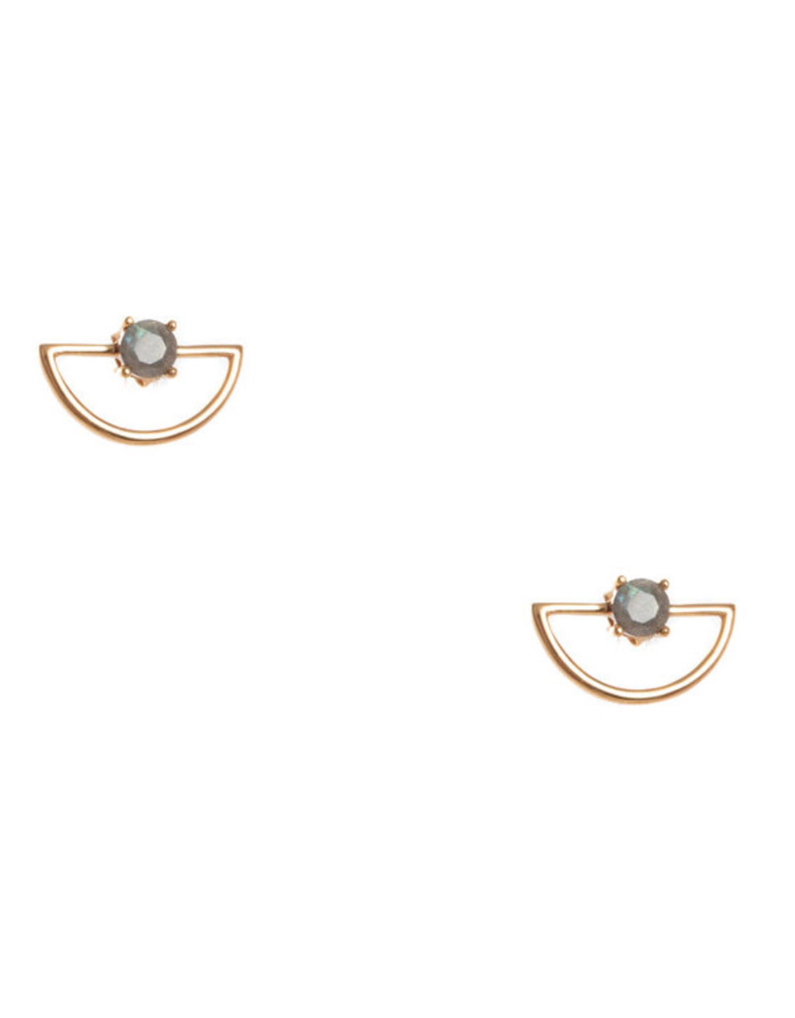Hailey Gerrits Designs Pine Earrings - Labradorite