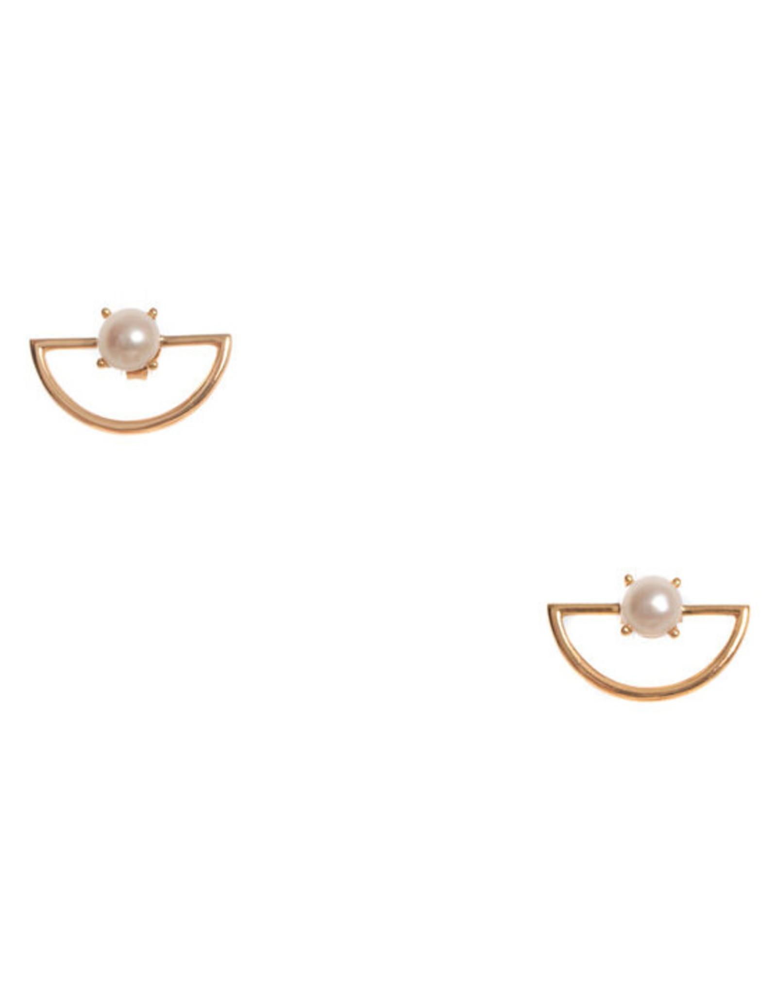 Hailey Gerrits Designs Pine Earrings - Pearl