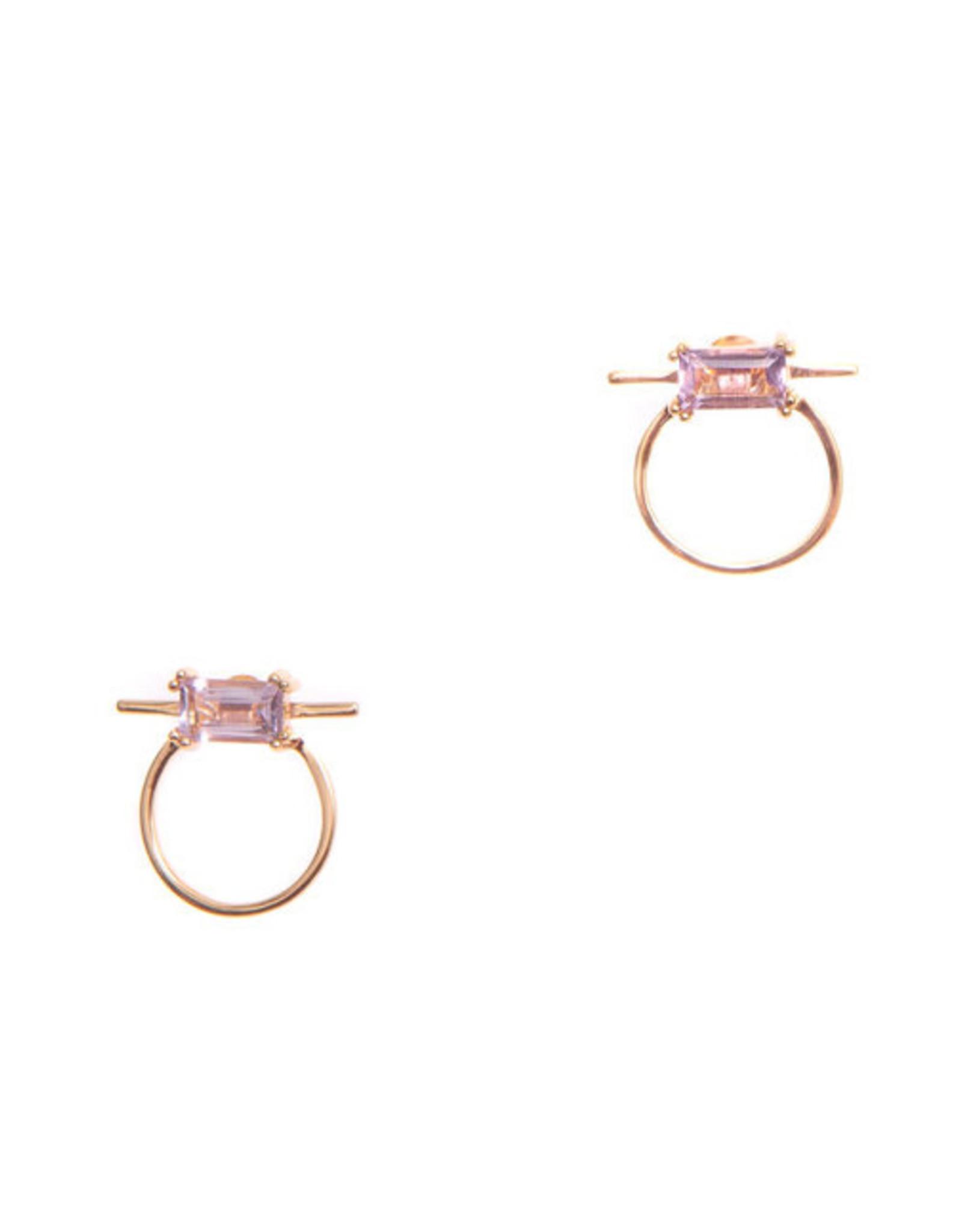 Hailey Gerrits Designs Antigua Studs - Pink Amethyst