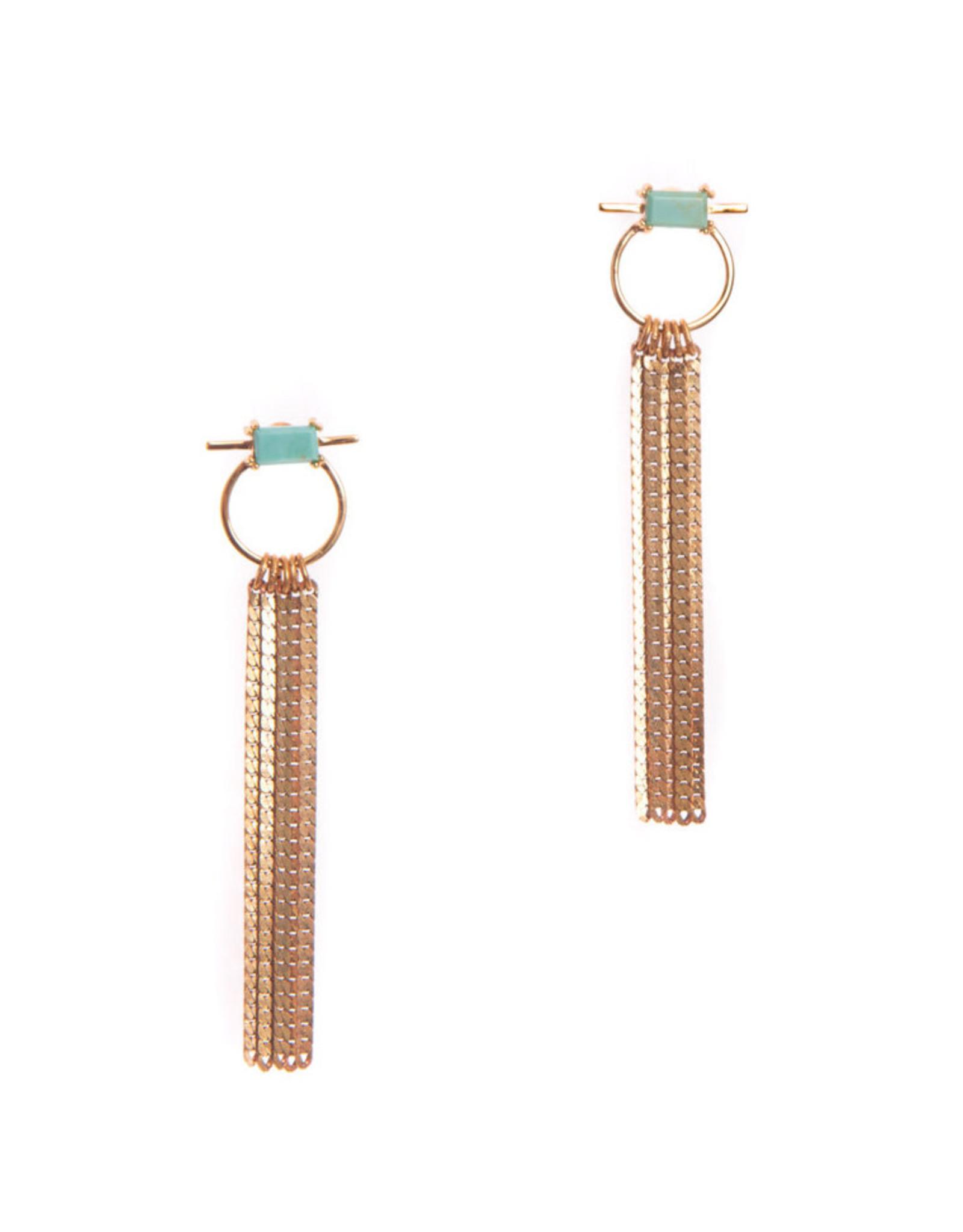 Hailey Gerrits Designs Capri Earrings - Green Turquoise