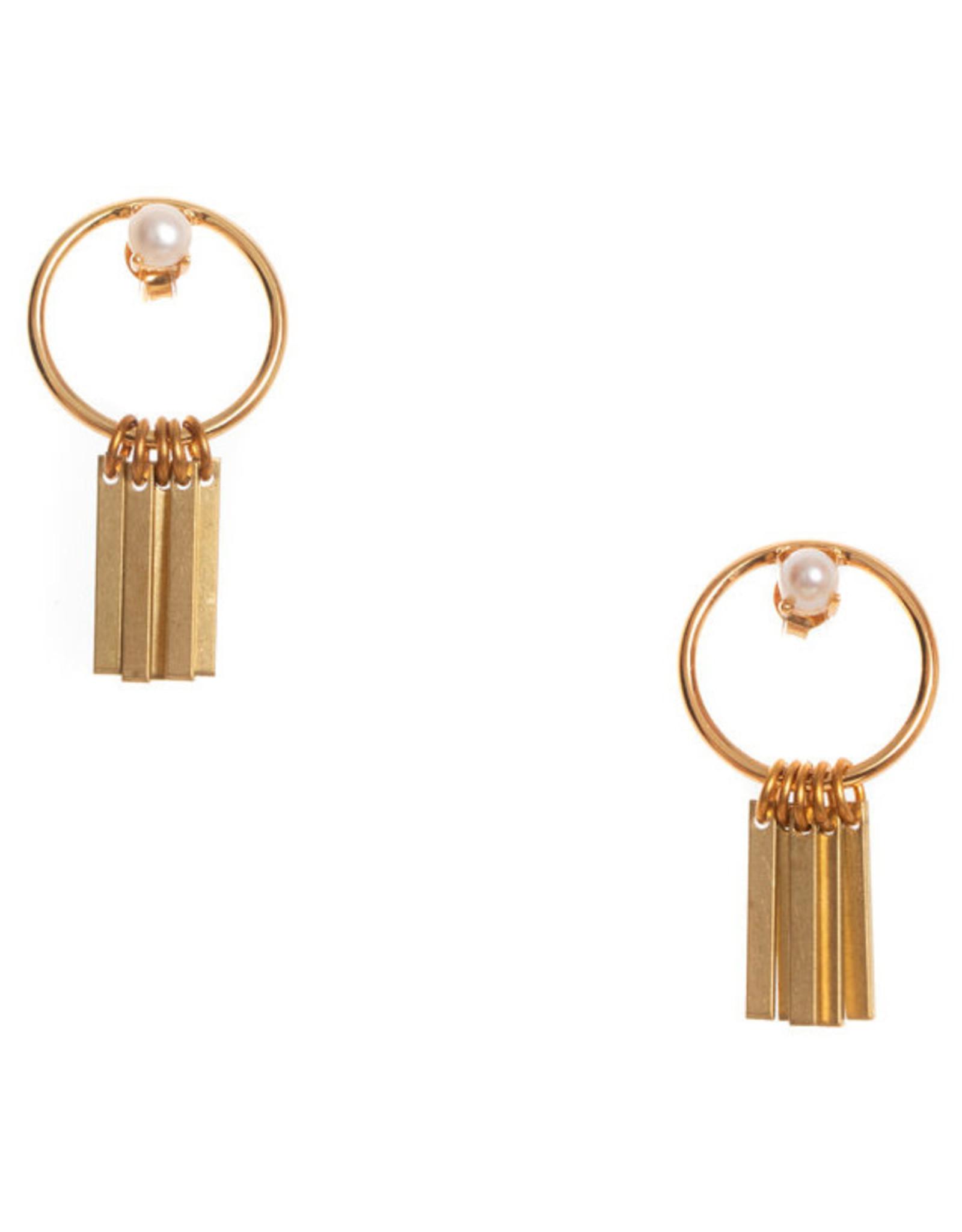 Hailey Gerrits Designs Arbutus Earrings - Pearl