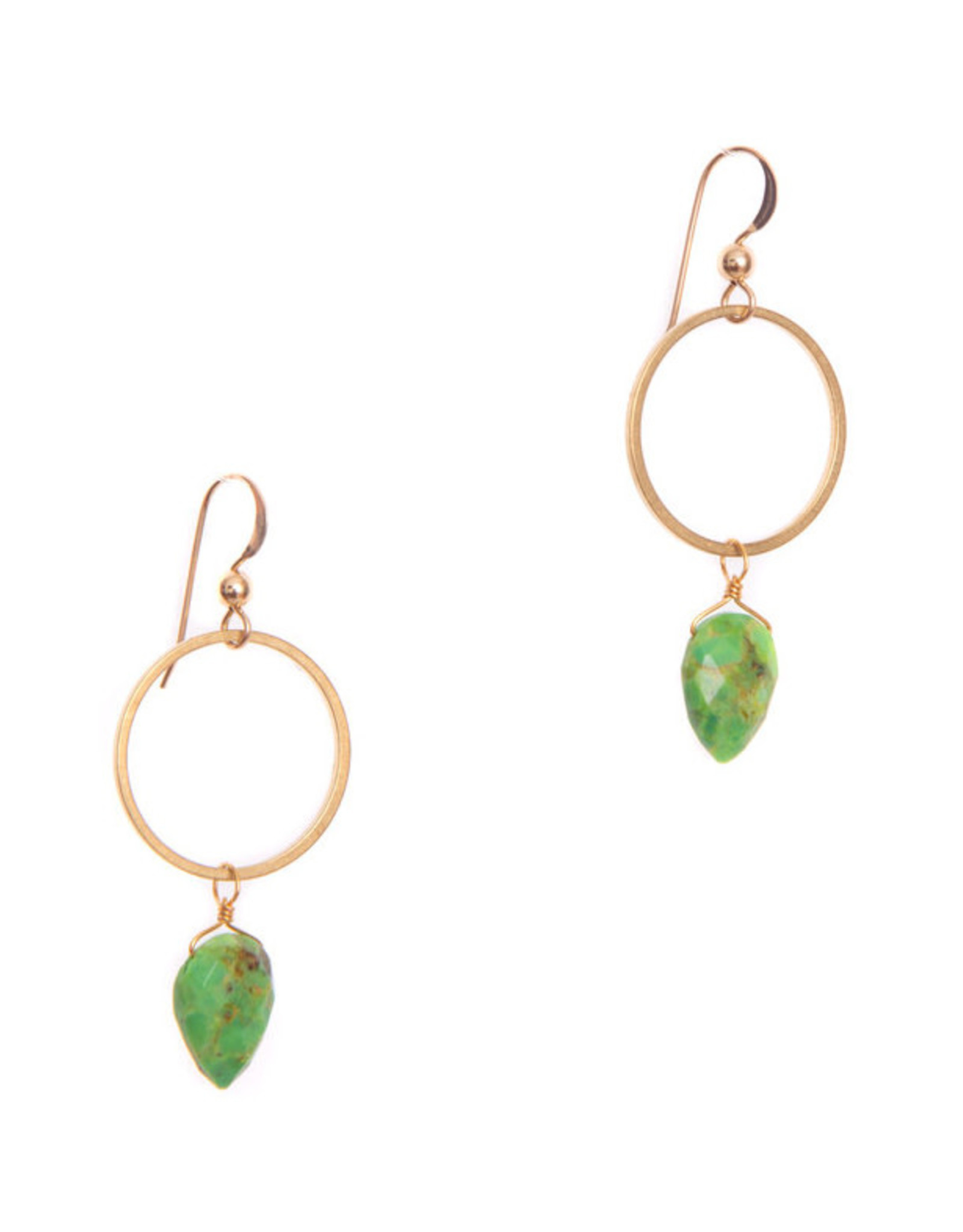 Hailey Gerrits Designs Rhea Earrings - Green Turquoise
