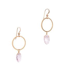 Hailey Gerrits Designs Rhea Earrings - Pink Amethyst