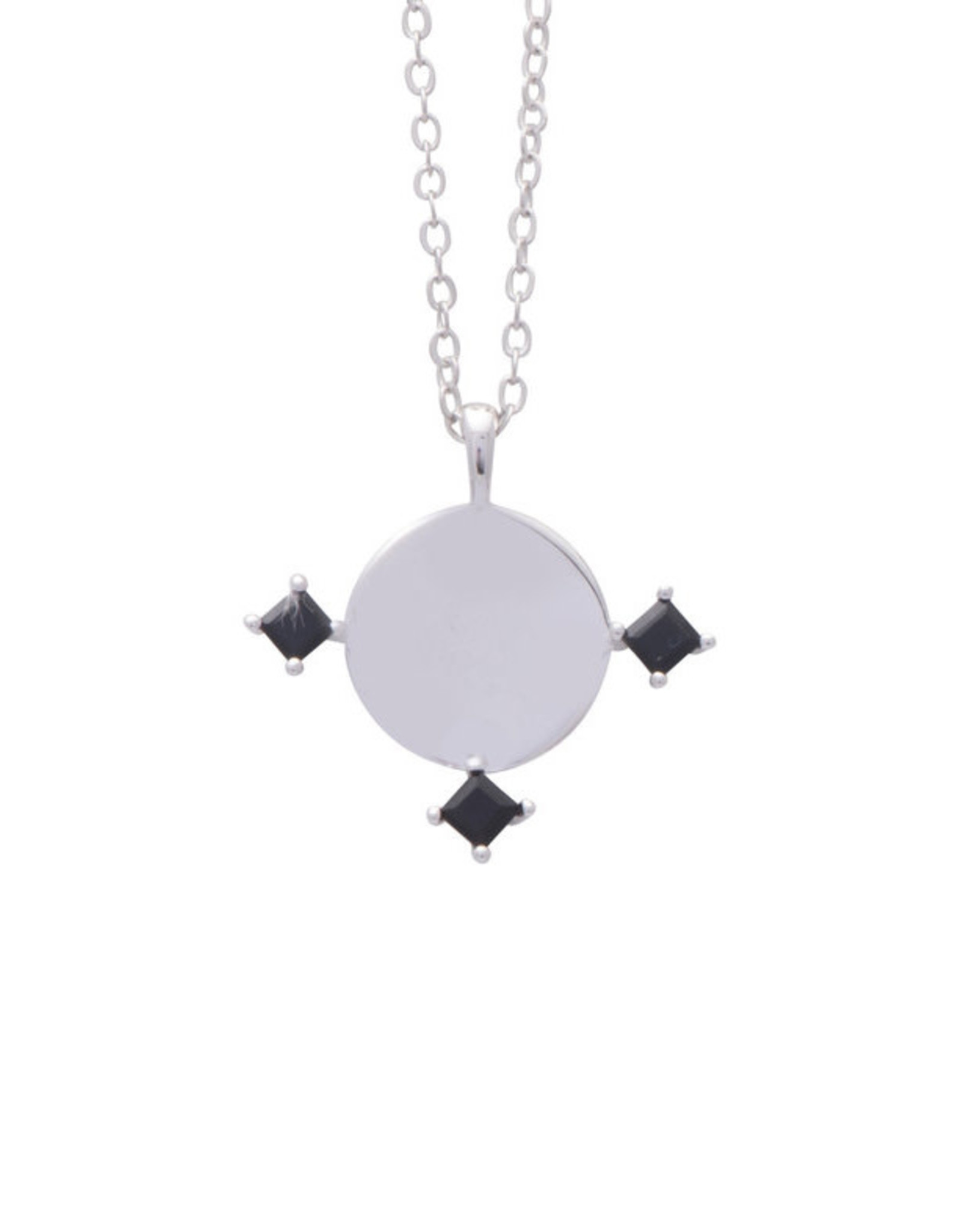 Sarah Mulder Jewelry Silver Imperial Necklace - Onyx