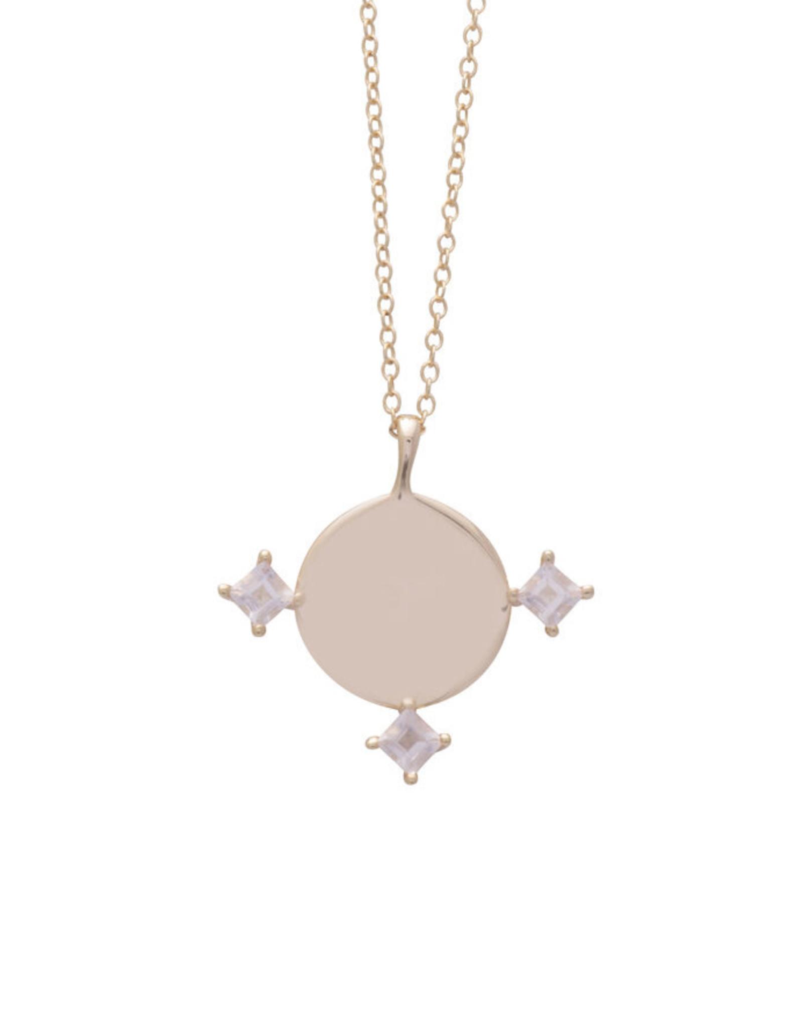 Sarah Mulder Jewelry Gold Imperial Necklace - Rose Quartz