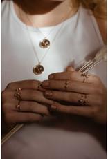 Sarah Mulder Jewelry Silver Cassie Ring - Rose Quartz + Pearl - 7