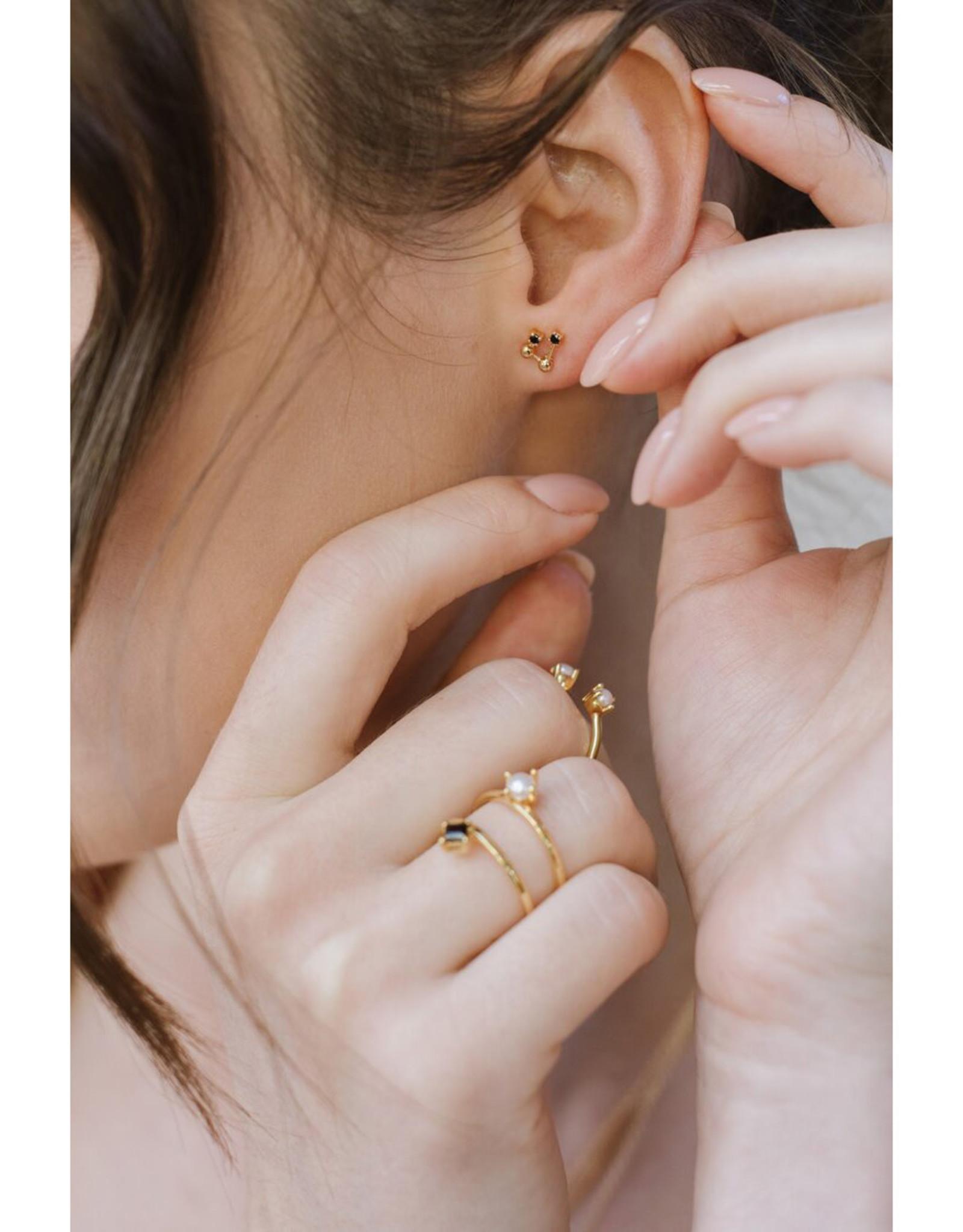 Sarah Mulder Jewelry Gold Cassie Ring - Rose Quartz + Pearl - 6