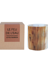 Le Feu De L'Eau Le Feu Marron Candle