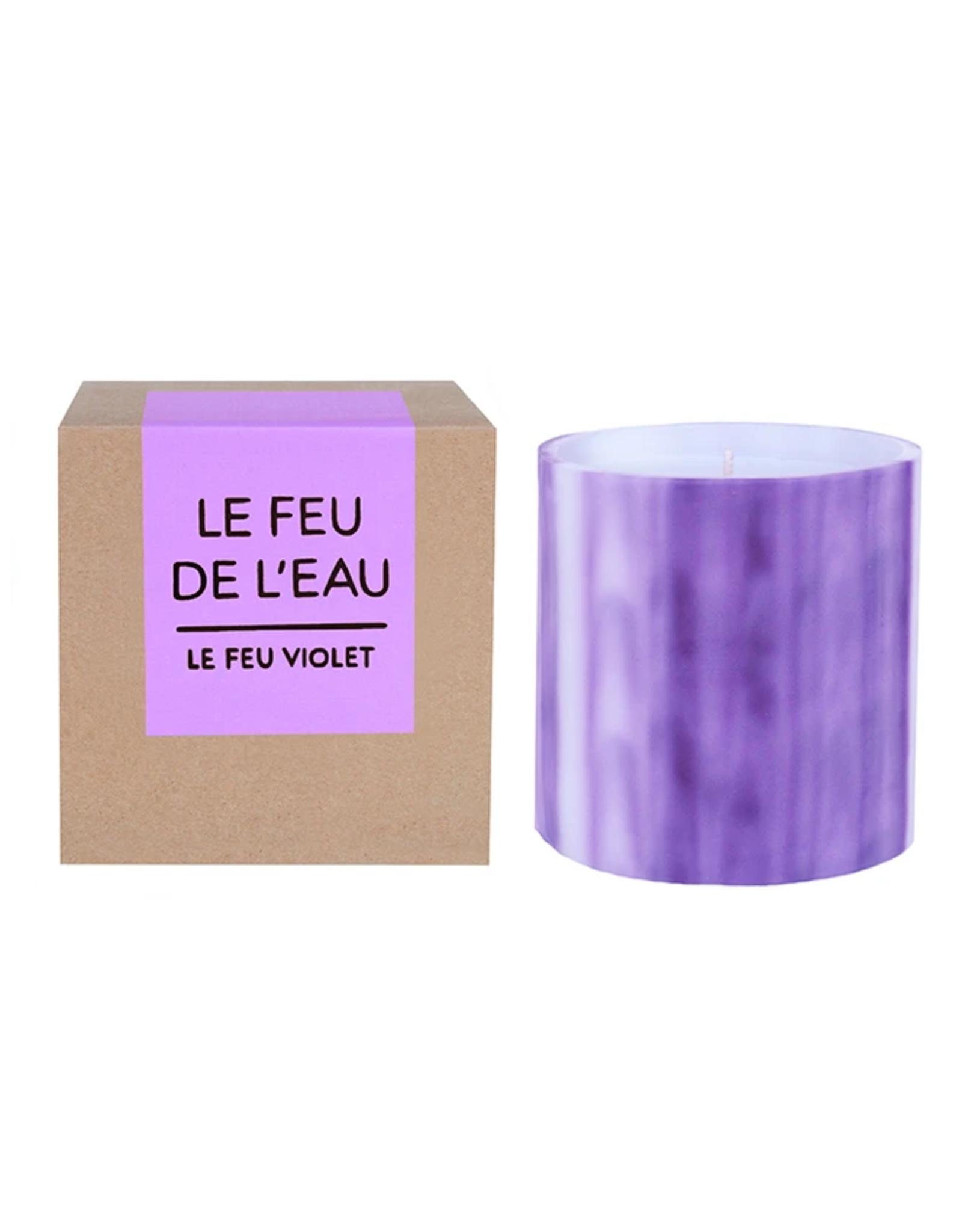 Le Feu De L'Eau Le Feu Violet Candle
