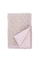 Indaba Quilted Velvet Throw - Ash