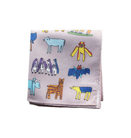 """H Tokyo Handkerchiefs """"AAC Zoo"""" Handkerchief"""