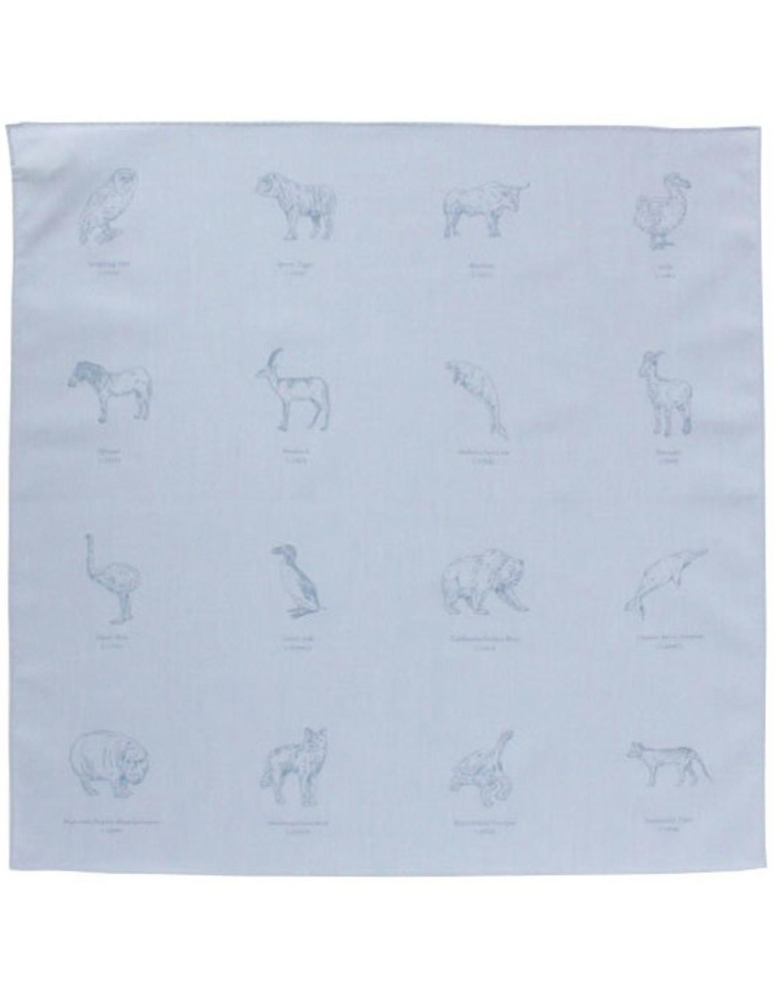 "H Tokyo Handkerchiefs ""Animals Now Extinct"" Handkerchief"