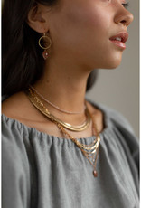 Hailey Gerrits Designs Stone Choker Necklace - Seed Pearl