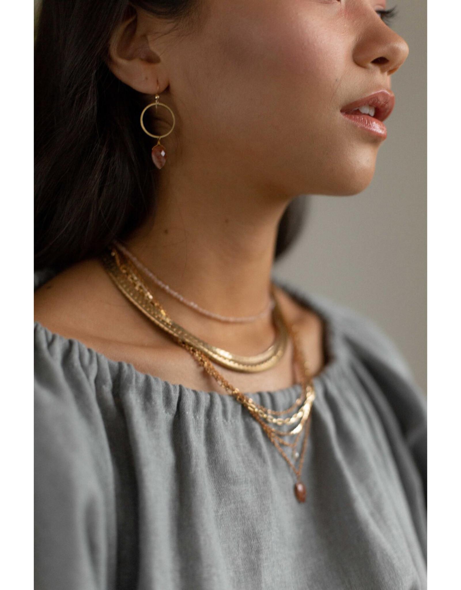 Hailey Gerrits Designs Stone Choker Necklace - Moonstone