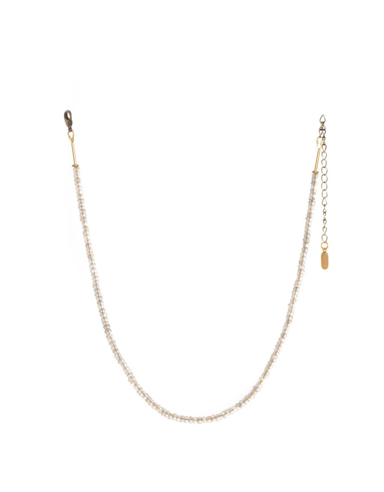 Hailey Gerrits Designs Stone Choker Necklace - Labradorite