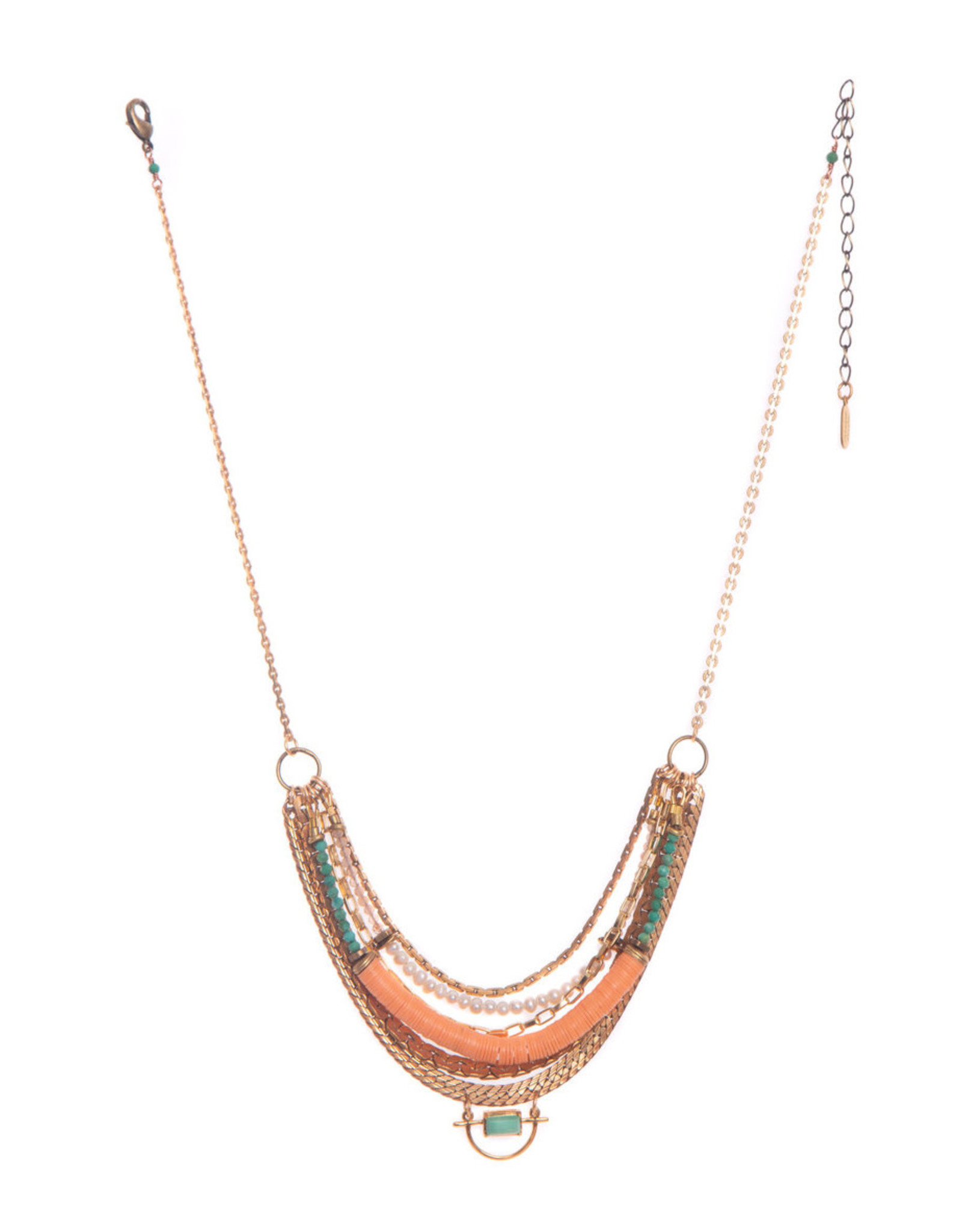 Hailey Gerrits Designs Malta Necklace - Green Turquoise