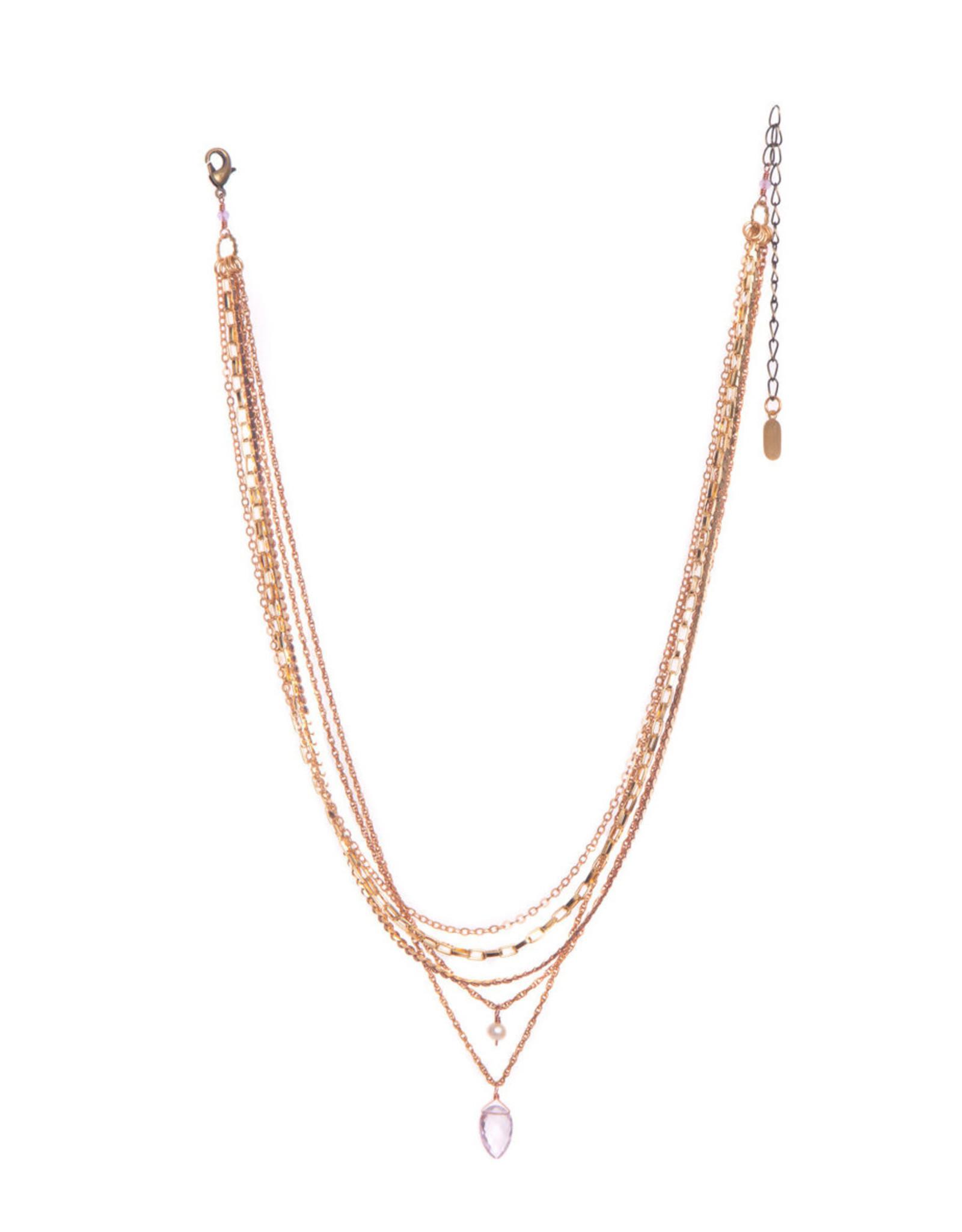 Hailey Gerrits Designs Playa Necklace - Pink Amethyst